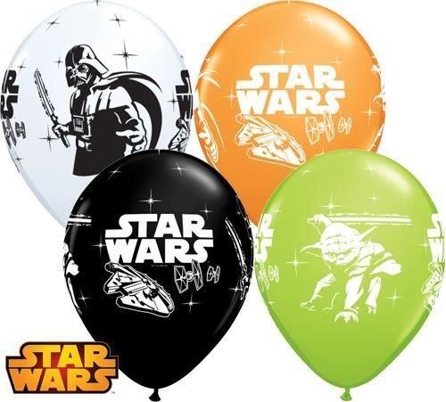Star Wars Nicht Botschaft Qualatex 30.5cm Latex Ballons x 6