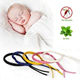 IREENUO Deet-Free Leder Mückenschutz Armband (5PCS/Pack) Anti Mückenschutz Outdoor & Indoor Natur Mückenschutz Insektenschutz für Kinder Erwachsene Babys