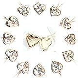 Adisaer Halskette Frauen Herz Medaillon Zum Öffnen Gold Memoir mit Kette Libra E Paar Kette Jahrgang Anhänger Für Tochter