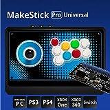 ist Makestick Pro universel (6en 1) Gadget de jeu Arcade Joystick Controller pour Playstation PS4/PS3/Windows PC/Xbox One/Xbox 360/Nintendo Switch (Airback Coussin Levier, gonflable Obsf SANWA Boutons)