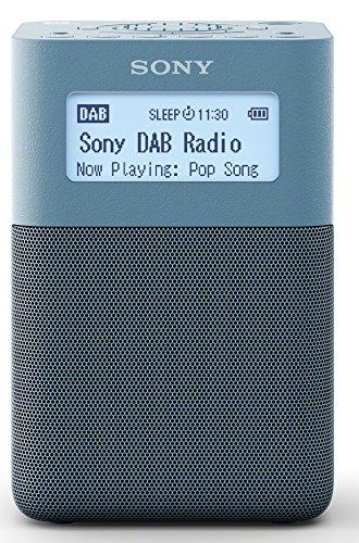 Sony XDR-V20D DAB/DAB+/UKW Radio mit Stereo Lautsprecher (10 Senderspeicher, platzsparendes Design, Akku- & Netzbetrieb, Timer-Weckfunktion) Blau (Sony-klein, Smart-tv)