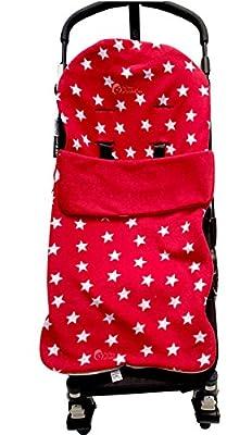 Snuggle saco/Cosy Toes Compatible con Buggy de Graco Stadium Duo Quattro Mirage Evo–estrella roja