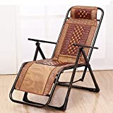 Folding Lounge Chair Büro Freizeit Stuhl Outdoor Beach Chair Rattan Nickerchen Cool Stuhl Schwangere Frau Mittagspause Stuhl (Farbe : Square tube)