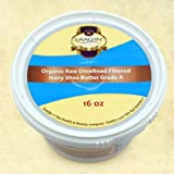 Authentic Organic IVORY Shea Butter FILTERED & CREAMY 16 Oz - The Highest Quality Butter