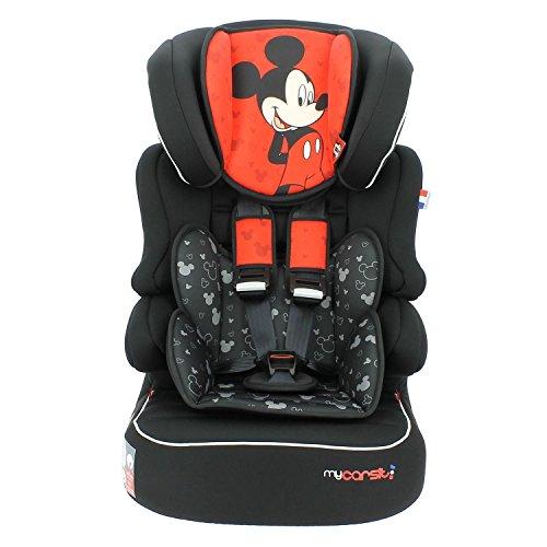 Mycarsit Siège Auto et Rehausseur Disney, Groupe 1/2/3 (de 9 à36 kg), Motif Mickey