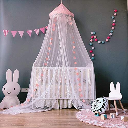Princesa Dosel cama - Rosa/Blanco cama dosel Mosquiteras
