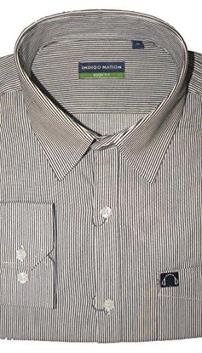 Indigo Nation Men's Cotton Shirt Black