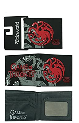 GAME OF THRONES Wallet Women Men Bifold Leather Money Holder Pocket Dragon Purse for teenagers cool gift