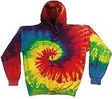Colortone Regenbogen Tie-Dye Hoodie - Rainbow - L