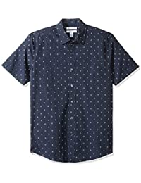 Amazon Essentials Slim-fit Short-Sleeve Print Shirt Hombre
