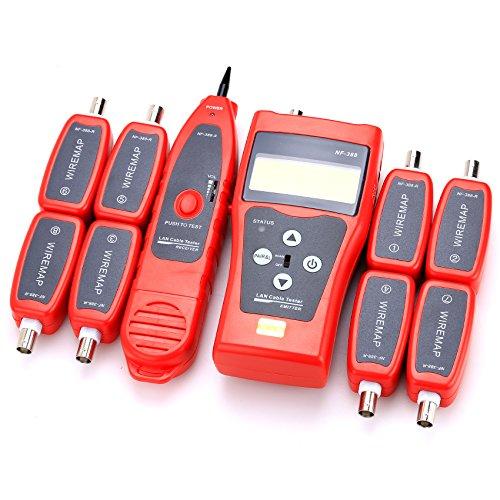 nf-388Mehrzweck Handheld Netzwerk Koaxial Audio Kabel Tester Trace CAT66E CAT5e Koaxial Kabel Tracker USB BNC RJ45RJ11Tester Netzwerk Kabel Ethernet Draht Tester Telefon Kabel Tester -