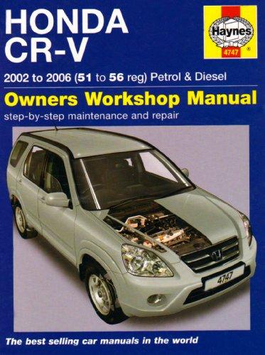 Honda CR-V Petrol & Diesel 2002 to 2006: 51 to 56 Reg por Haynes