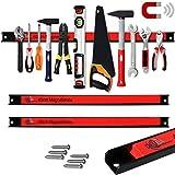 Deuba® 2x Magnetleiste 60cm | 23kg Tragkraft | Modellauswahl | Montagematerial Werkzeugleiste Messerleiste mit Modellauswahl Magnetleisten für Werkzeug