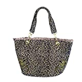 MB-Müller Rockabilly ∣ Leoparden Reisetasche-Handtasche ∣ Bügeltasche mit Reißverschluss ∣ Größe: 42 cm Lang x 27,5 cm Hoch x 12 cm Tief 100% Polyester (22624-001-000)