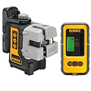 DeWalt 3-Way Self-Levelling Ultra Bright Multi-Line Laser with DE0892 Detector