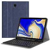 MoKo Funda para Samsung Galaxy Tab S4 10.5' Teclado, Cubierta con Soporte para Stylus, Protector de Teclado Inalámbrico para Galaxy Tab S4 10.5' (SM-T830 and SM-T835) 2018 - Índigo