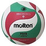 Molten Erwachsene V5M5000 Volleyball, Grün/Weiß/Rot, 5
