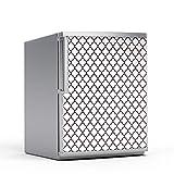 creatisto Kühlschrank 60x80 cm Kühlschrankmuster Einbauküche | Motiv Kühlschranktür Aufkleber Folie Sticker selbstklebend Kühlschrank folieren | Muster Ornament Retro Pattern - Dunkelrot