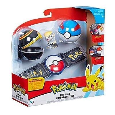 Pokémon Clip 'N' Go Poké Ball Belt Set - Negro / Azul por Character Optiions