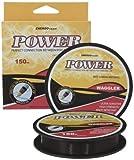 Angelschnur Power Waggler sinkend 0,16mm Tragkraft 3,29kg,150m, Farbe schwarz