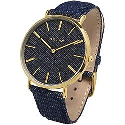 Relax Nîmes Armbanduhr Herren 40mm gold