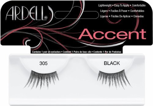 Ardell Duralash Accents False Eyelashes - #305 Black (Pack of 6) by Ardell