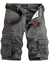 GreatestPAK Pants Pure Color Shorts Herren Outdoor Taschen Strand Arbeit  Hosen Cargo Pant 30a1137175