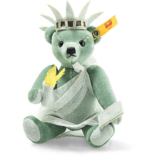 Steiff 026874 Great Escapes New York Teddybär in Geschenkbox 15 cm grün 5-Fach gegliedert (York New Plüsch)