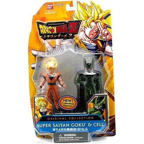 Bola de Dragón Z pack de 2 Figuras Original Colección Cell/Goku Supersaiyajin 95011