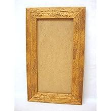 Espejos Bonito Antiguo Marco De Madera Para Foto Vidrio Con Imagen Pintura Pintado Arte Y Antigüedades