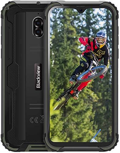 【2019】Blackview BV5900 Smartphone Antiurto IP68 Dual SIM, 4G Cellulare Android 9.0, 5.7 Pollici HD+ Telefono Resistente, 3/32GB, Batteria 5580mAh, 13MP/5MP, TF 256GB, GPS/Face ID/Bussola V