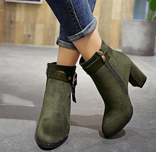 35 E Pantaloncini Khskx Coreano Verde In tacco Martin Stivali Cintura Clip Da Lhigh Nudi grande Raso Scarpe Con Stivali Versione Avanzate Esercito 88Fw1qp