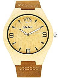 IBigboy Factory Wooden Watch Handmade Natural Bamboo Wood Couple Gifts Watch Quartz Wrist Watch IB-1603Fa