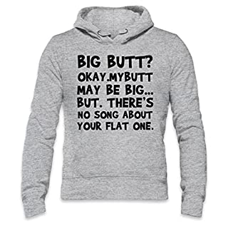 Big Butt Funny Slogan Mens Hoodie XX-Large