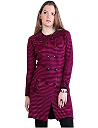 Montrex Pink Double Breasted Coat for Women