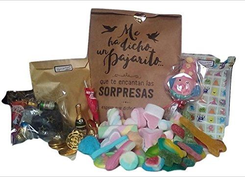 Surtido de dulces para regalo - Gominolas, nubes, chocolates y piruleta de nube - Grande