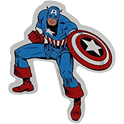 CAPTAIN CAPITÁN AMERICA'S Full completo Body Cuerpo STICKER, Officially Licensed Marvel's The Avengers Comic Superhero Artwork ilustraciones- Long largo Lasting duradera Die-Cut Vinyl vinilo Sticker Etiqueta DECAL CALCOMANIA