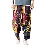VENMO Haremshose Herren Damen Aladinhose Alternative Kleidung Pumphose Hose Aladinhose Goa Hose - Spiral Stil