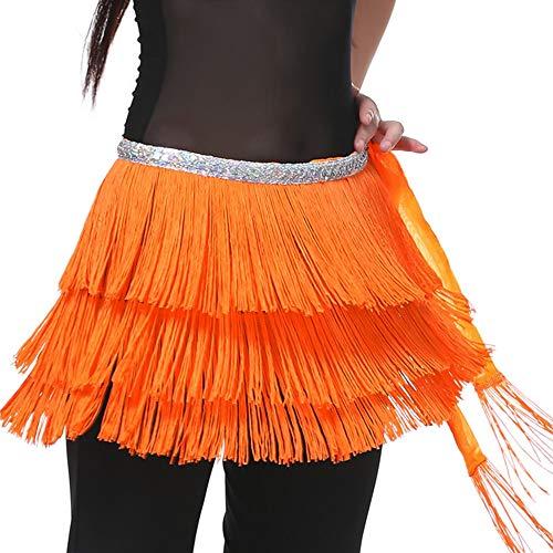 Hop Tänzer Hip Kostüm - Lonshell Bauchtanz Rock Troddel Lonshell Hüfttuch Taille Gürtel Wickelbund Minirock Strand Kurz Minirock Bikini Belly Dance Skirt