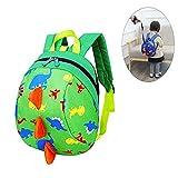Kinderrucksack,Kinder Rucksack Jungen, Dinosaurier Kinder Rucksack, Anti-verlorene Kinder Rucksack, Kleinkind Rucksack für Schule, Kindergarten