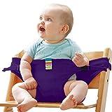Tragbare Stuhl Babysitz Baby Esszimmerstuhl Sicherheitsgurt für Babys Kleinkind Carrier Violett
