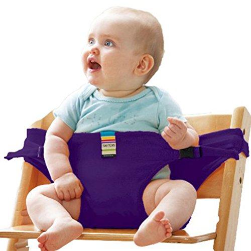 Preisvergleich Produktbild Tragbare Stuhl Babysitz Baby Esszimmerstuhl Sicherheitsgurt für Babys Kleinkind Carrier Violett