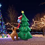 Surenhap Weihnachtsdekoration, LED Selbstaufblasend Weihnachtsbaum • 1.8M • Aufblasbar Frohe Weihnachten
