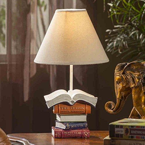 Live-harz (GBT Kreative Europäische Wohnzimmer Schlafzimmer Den Harz Bücher Tischlampe Bett Wohnzimmer Lampen Optional,Knopfschalter)