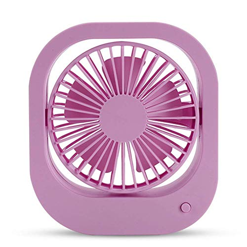 HPYRJ Tischventilator, Tragbarer Persönlicher Mini-Tischventilator Mit USB-Akku, Elektrischer Ventilator Office Outdoor Sports Home Travel Camping,Purple Mobile Travel Kit