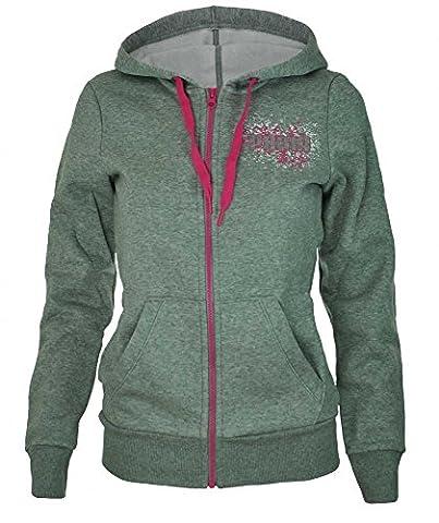 Puma ITS Hooded Jacket Femme Capuche Sweat Veste Hoody Gris,