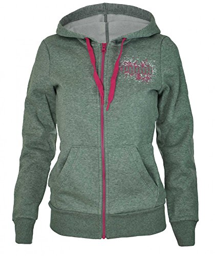 Puma ITS Hooded Jacket Womens Damen Kapuzenpullover Hoody Sweatjacket Grau, Grösse:S