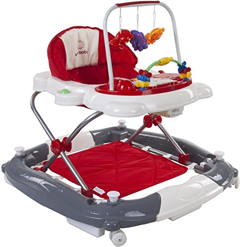 *Sun Baby Rocker Kitty Baby Walker, Rot/Grau*