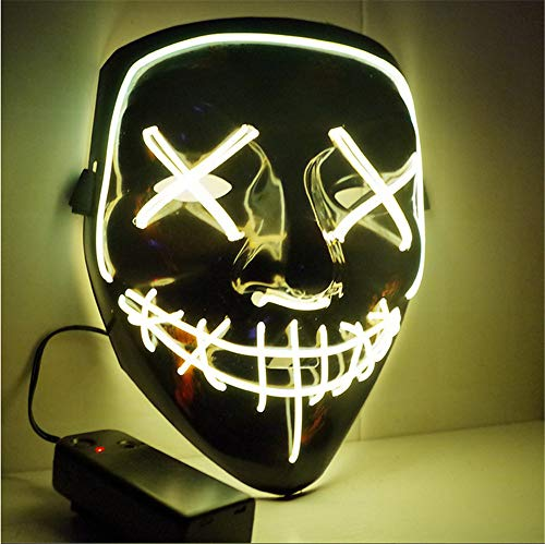 Ytdzsw Halloween Maske LED Leuchten Party Masken Die Reinigung Wahl Jahr Große Masken Festival Cosplay Kostüm Liefert Glow In Dark (Kinder The In Kostüm Glow Dark Skelett)