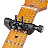 #1: amiciKart Original Flanger FA-20 Black Flanger Flexi-Capo Portable Alternative Tuning Capo for Guitar Musical Instruments Top Quality